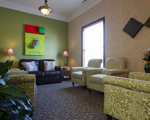 Another view of the waiting room at Thompson Family Dental at Nora