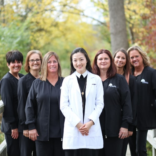 The dental team at Thompson Family Dental at Nora